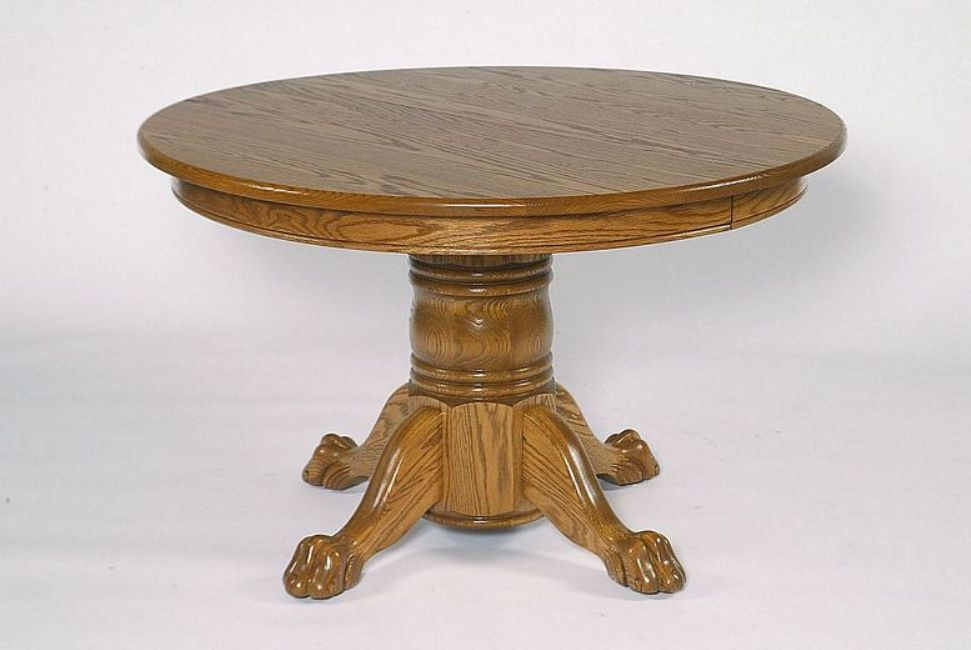 Image of: Round pedestal table base