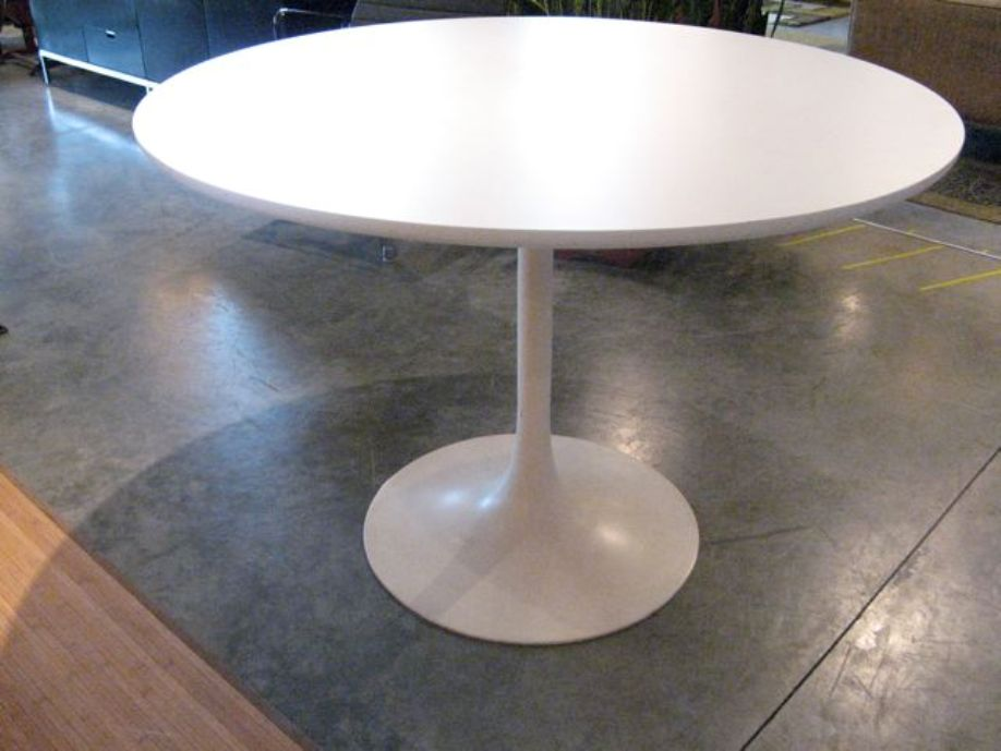 Image of: Round pedestal table set