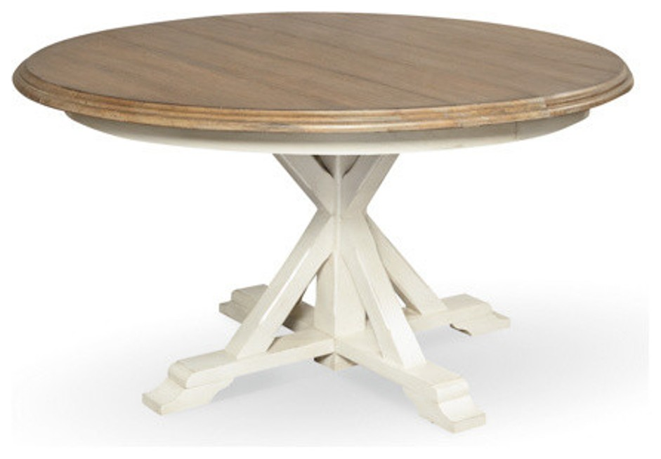 Image of: Round pedestal table