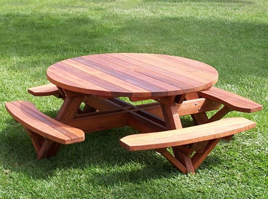 Image of: Round picnic table cover