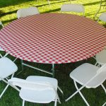 Round Picnic Tablecloth With Umbrella Hole