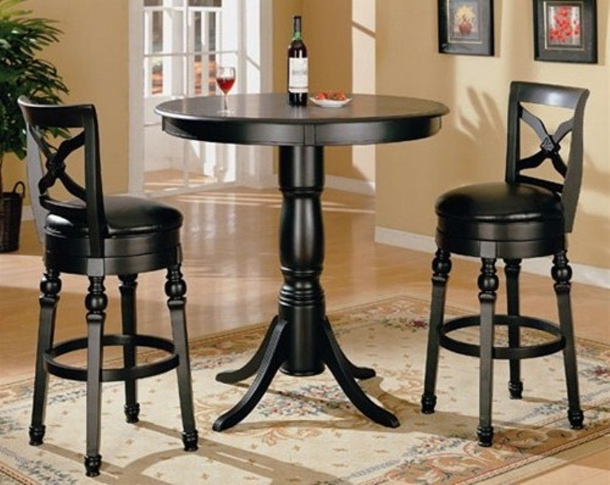 Picture of: Round pub style table and chairs
