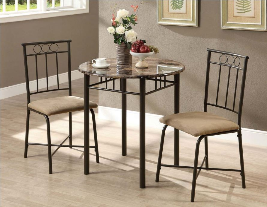Image of: Round pub table and chair sets