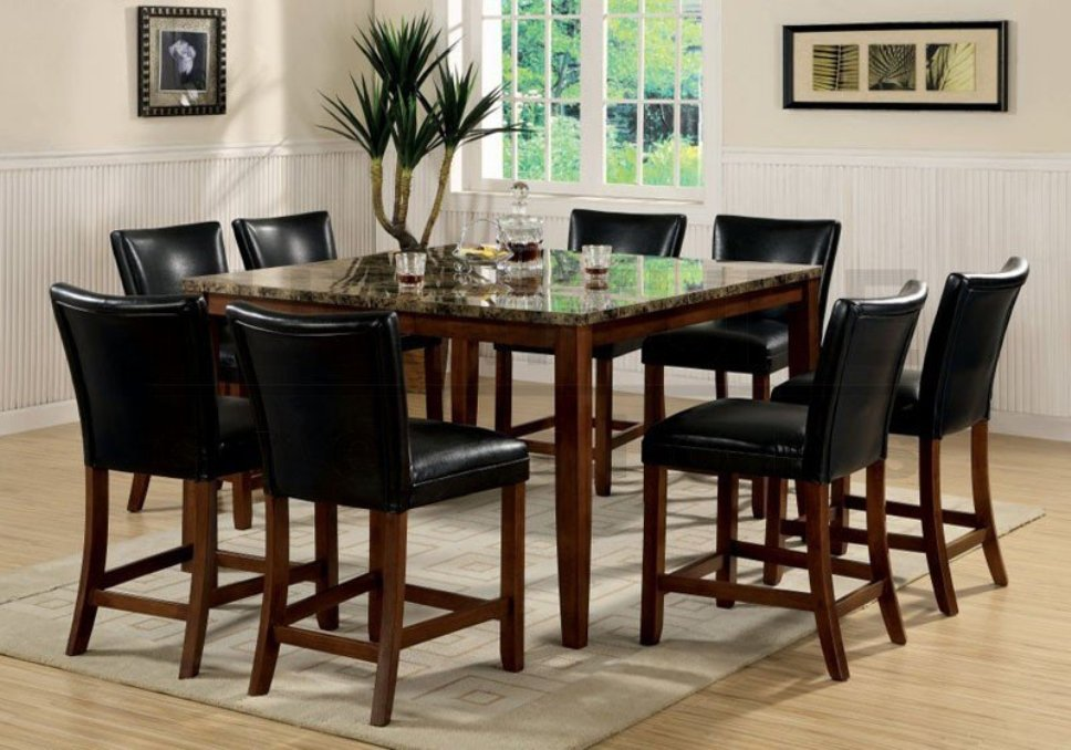Image of: Round pub table and chairs
