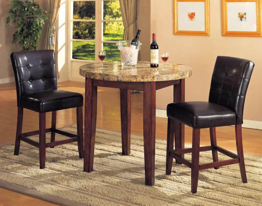 Image of: Round pub table and stools