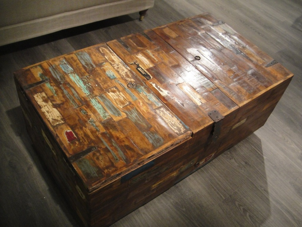 Picture of: rustic coffee table reclaimed wood