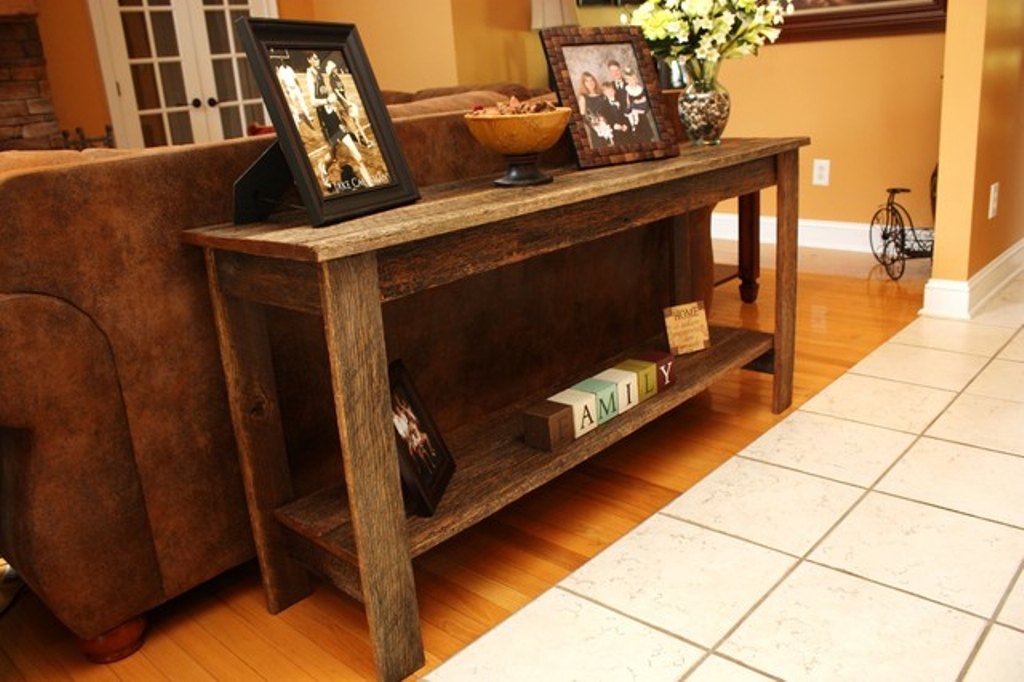 Image of: Rustic Console Table Designs Ideas