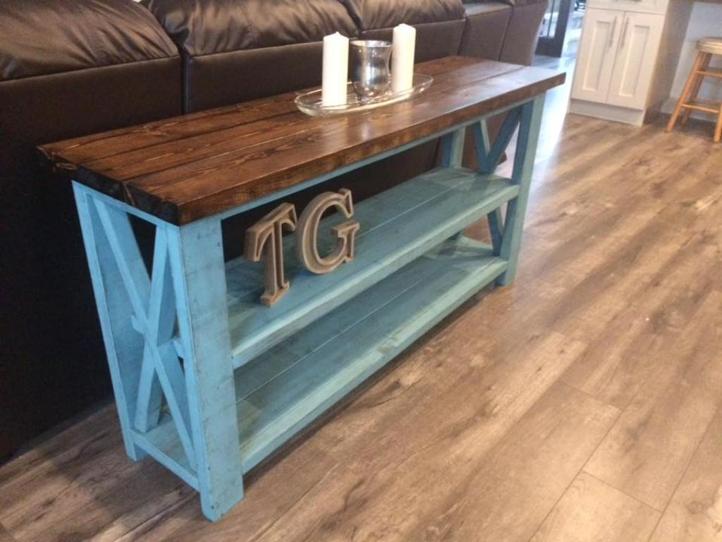 Image of: Rustic Console Table Designs