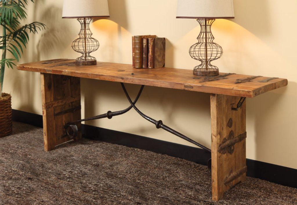 Picture of: Rustic Console Table Diy