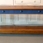 Rustic Console Table With Shelves