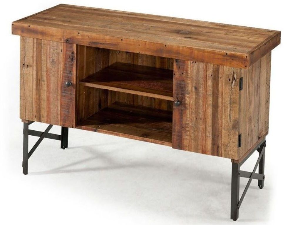 Picture of: Rustic Console Table With Storage