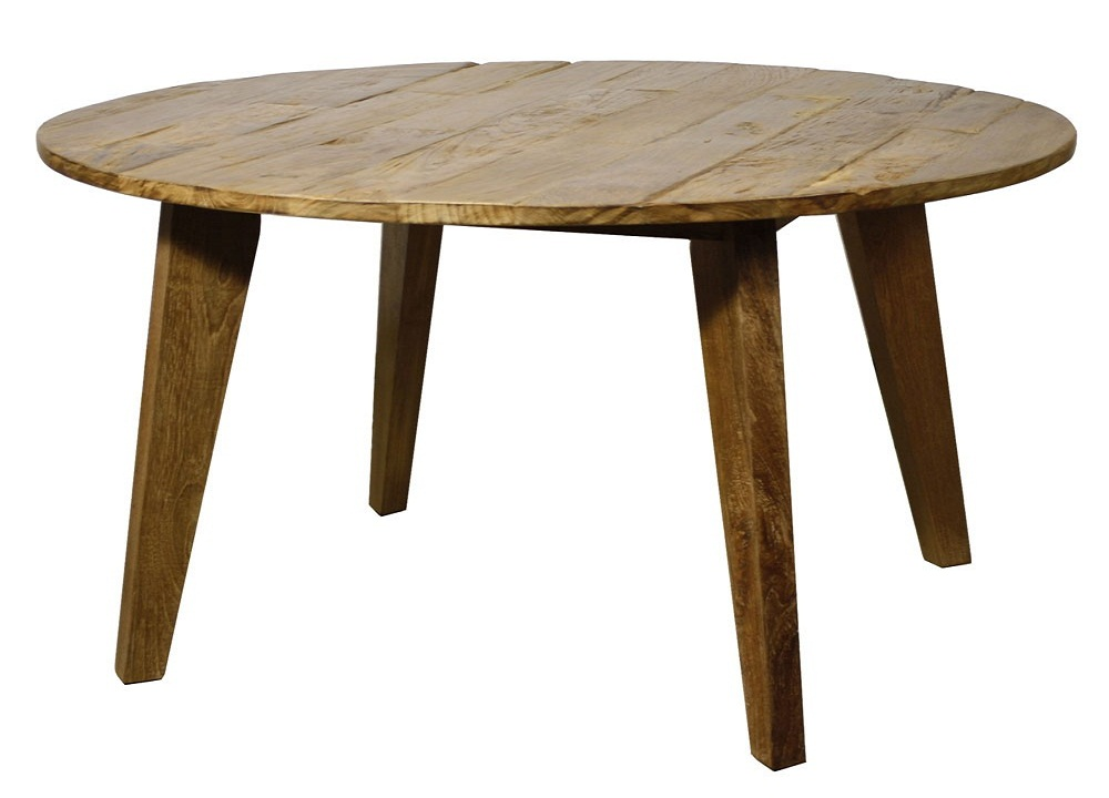 Image of: Rustic Round Dining Table Design