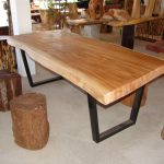 Rustic Wood Slab Dining Table