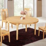 Rustic Solid Wood Round Dining Table
