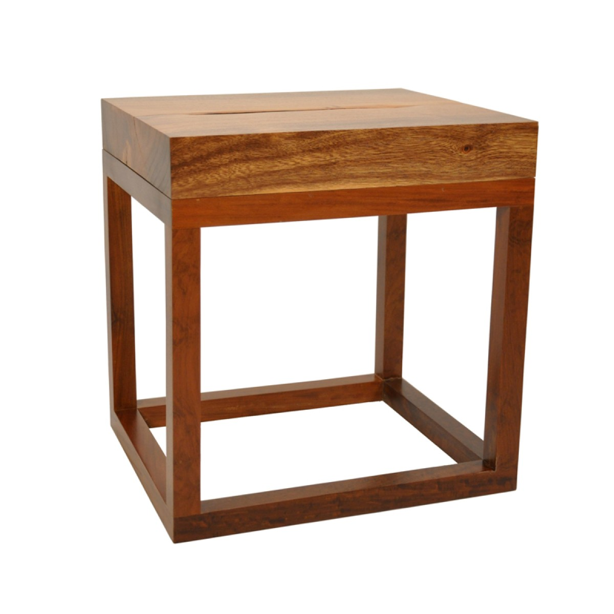 Picture of: Salvaget Reclaimed Wood Side Table