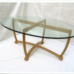 Scan Glass Oval Coffee Table