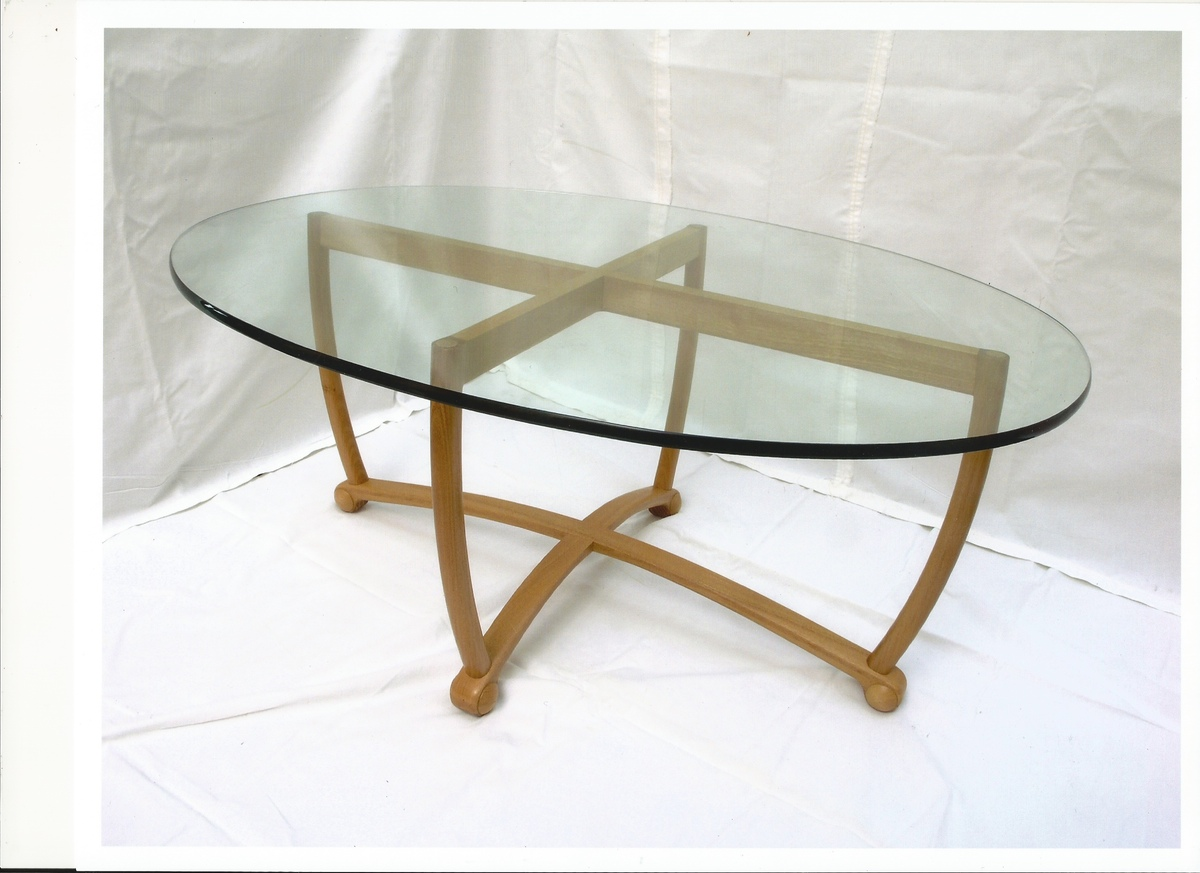 Picture of: Scan Glass Oval Coffee Table