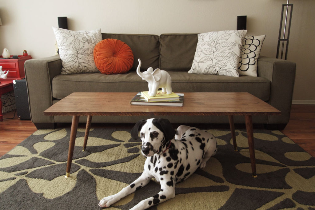 Image of: simple mid century modern coffee table