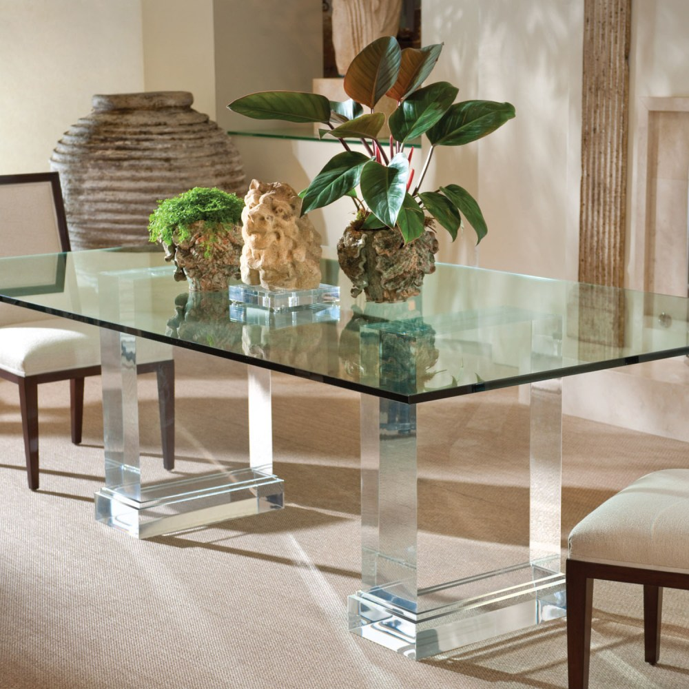 Simple Mirrored Dining Room Table