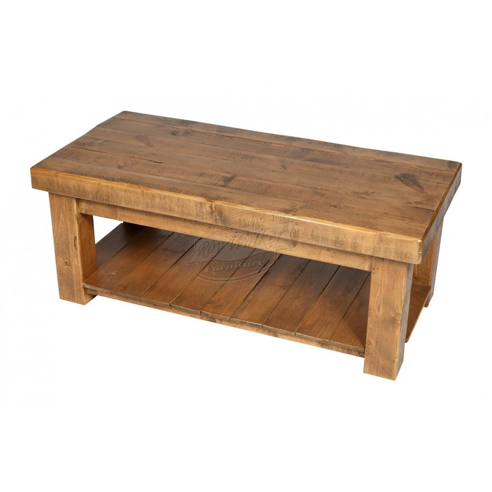 Picture of: Simple Rustic Wood Coffee Table