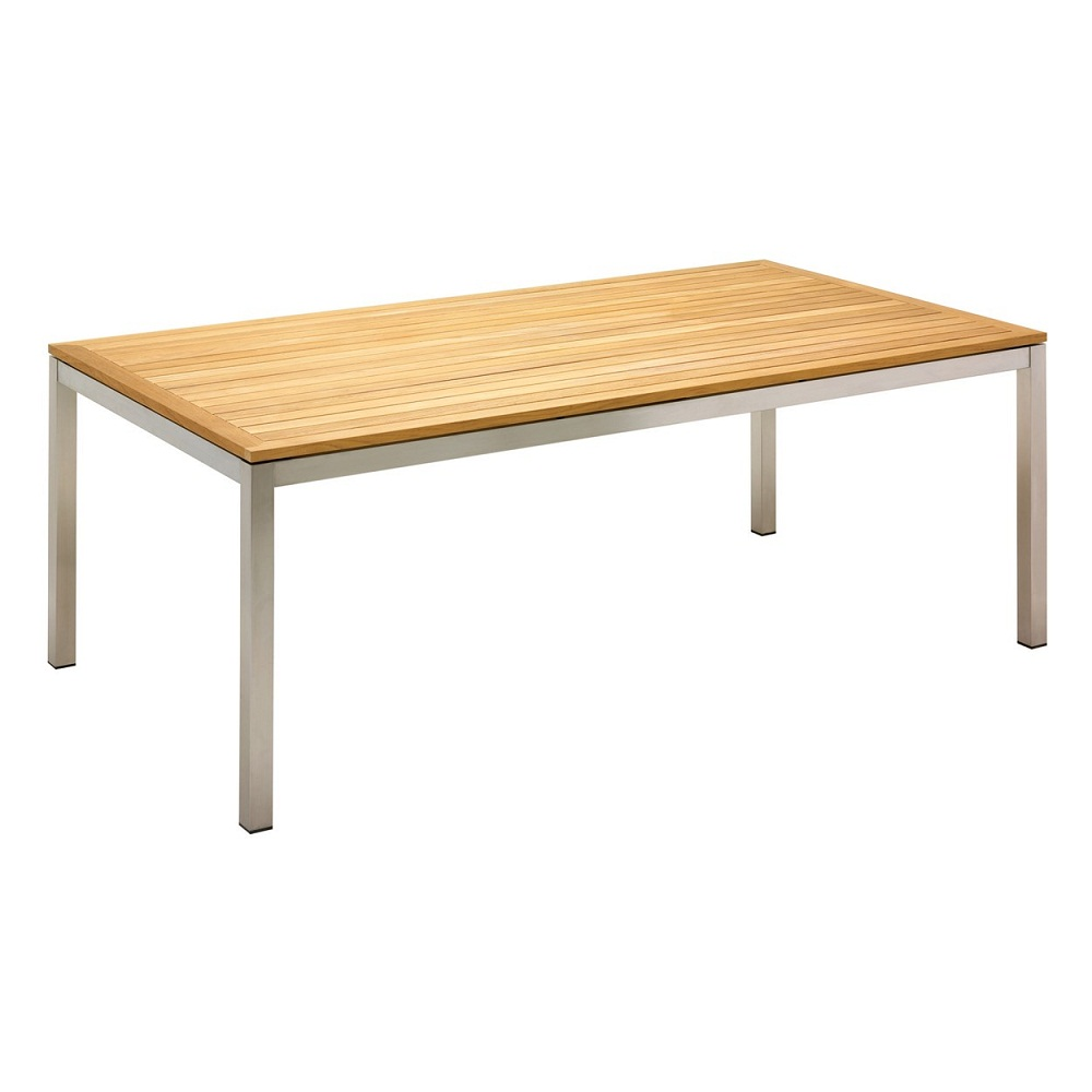 Image of: Simple Teak Outdoor Dining Table