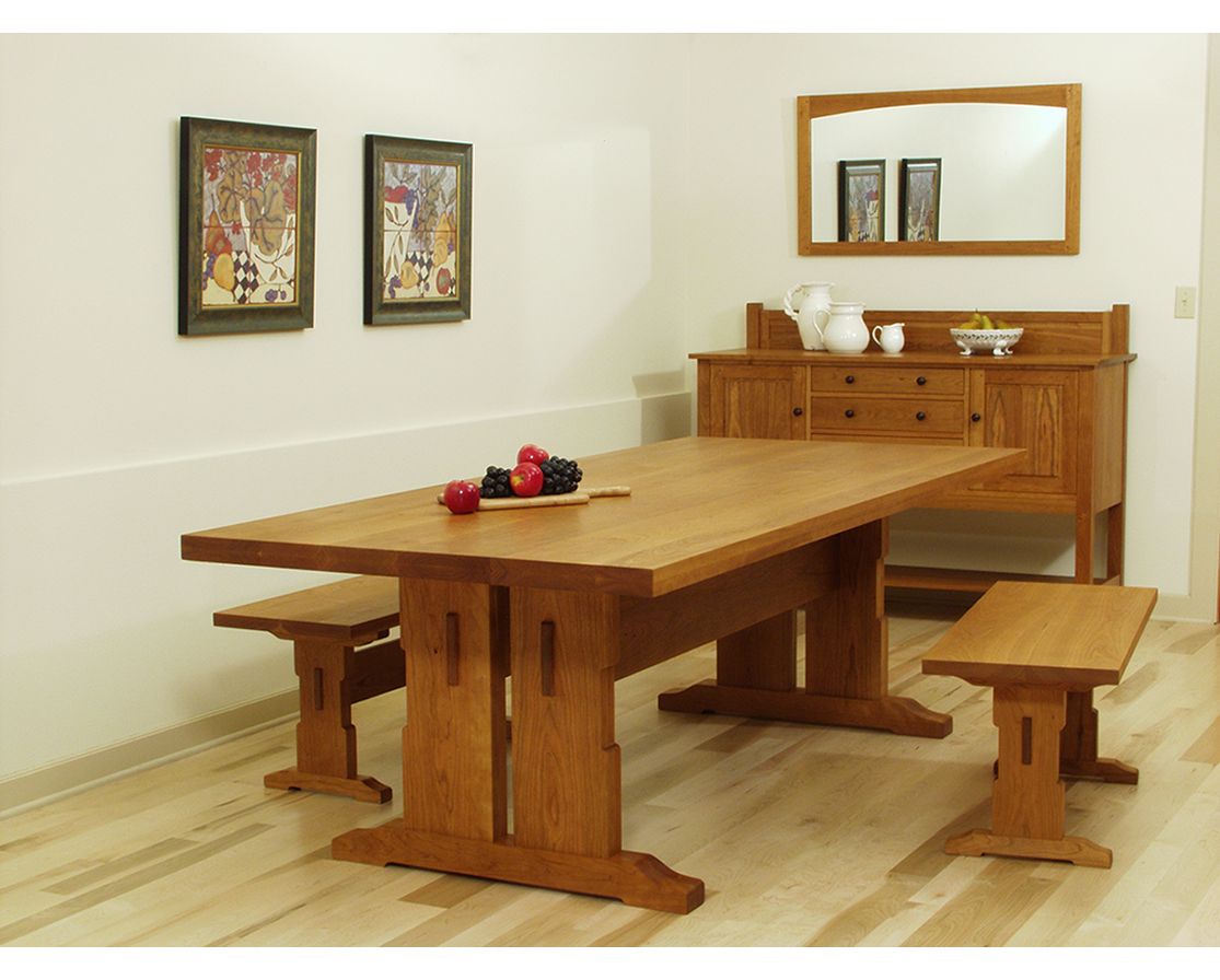 Picture of: Simple Trestle Dining Room Table
