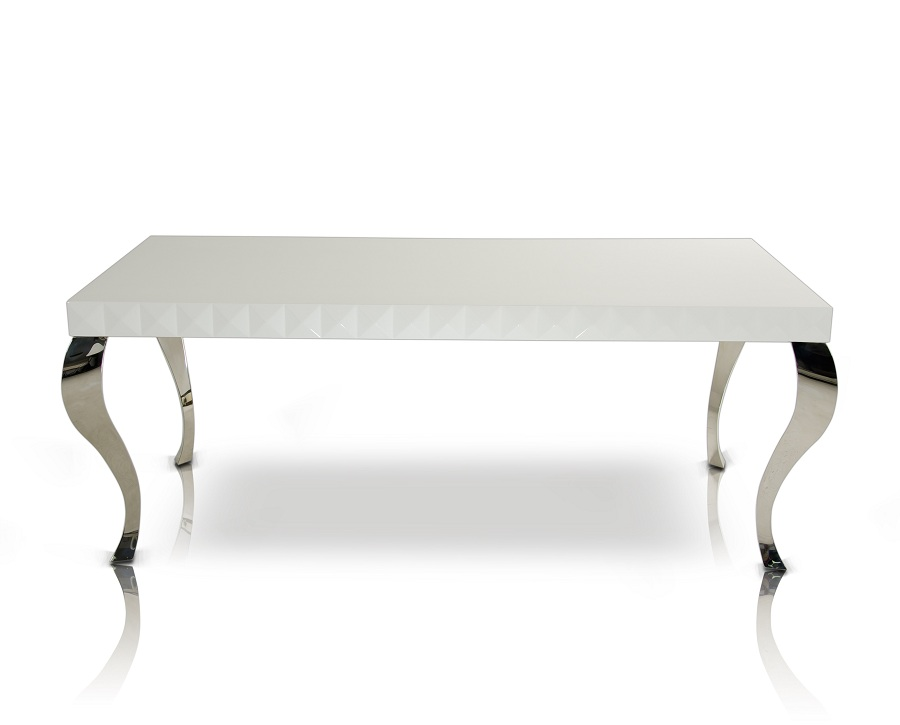 Simple White Lacquer Coffee Table