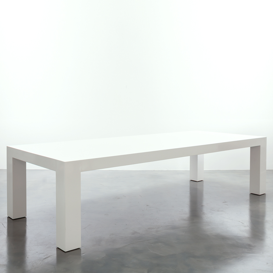 Image of: Simple White Lacquer Table