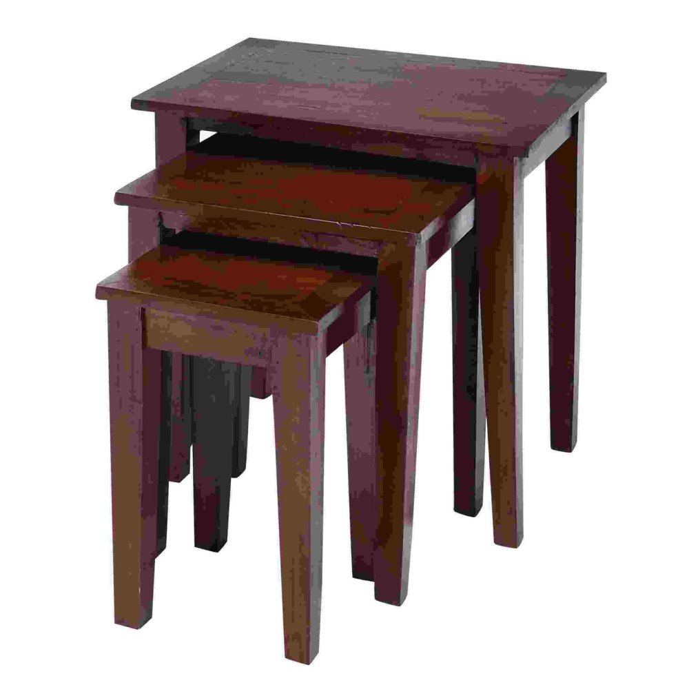Image of: Simple Wood Nesting Tables