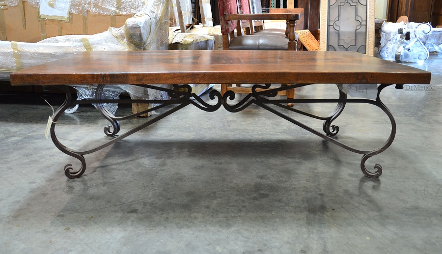 Picture of: Simple Wrought Iron Coffee Table