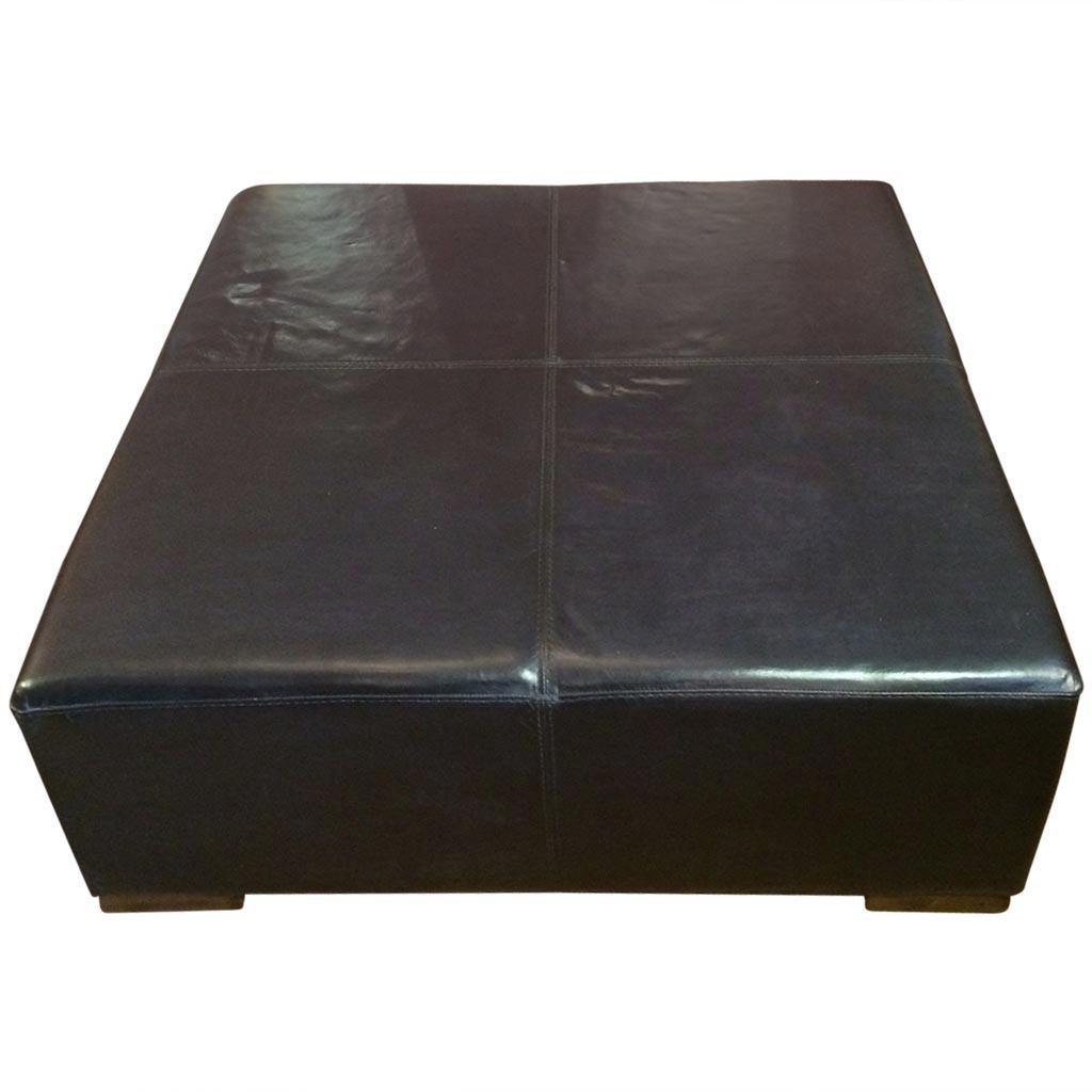 Image of: Simple and Large Leather Ottoman
