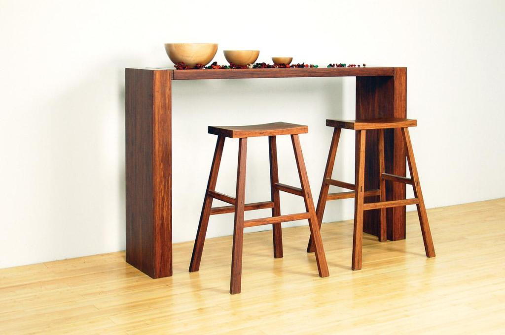 Picture of: Skinny Console Table Wood
