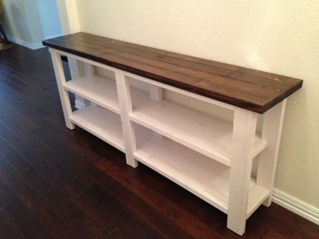 Image of: Skinny Sofa Table Plans