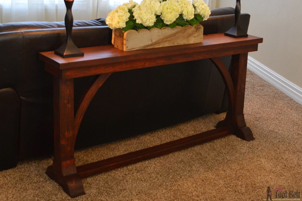 Image of: Skinny Sofa Table