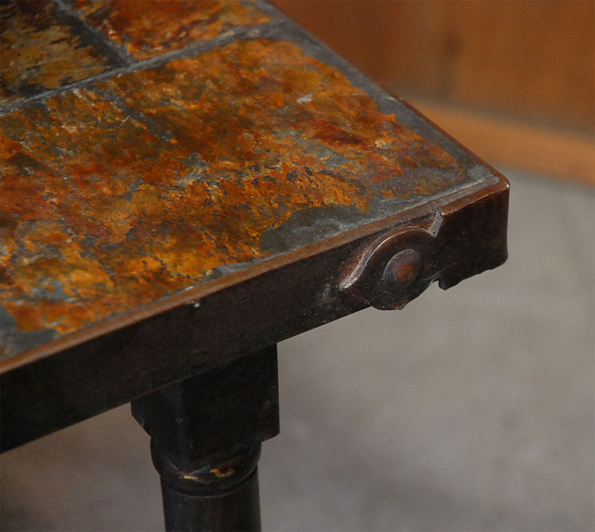 Slate Top Coffee Table Detail