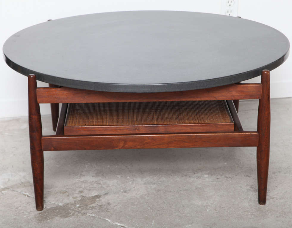 Slate Top Coffee Table Mid Circle