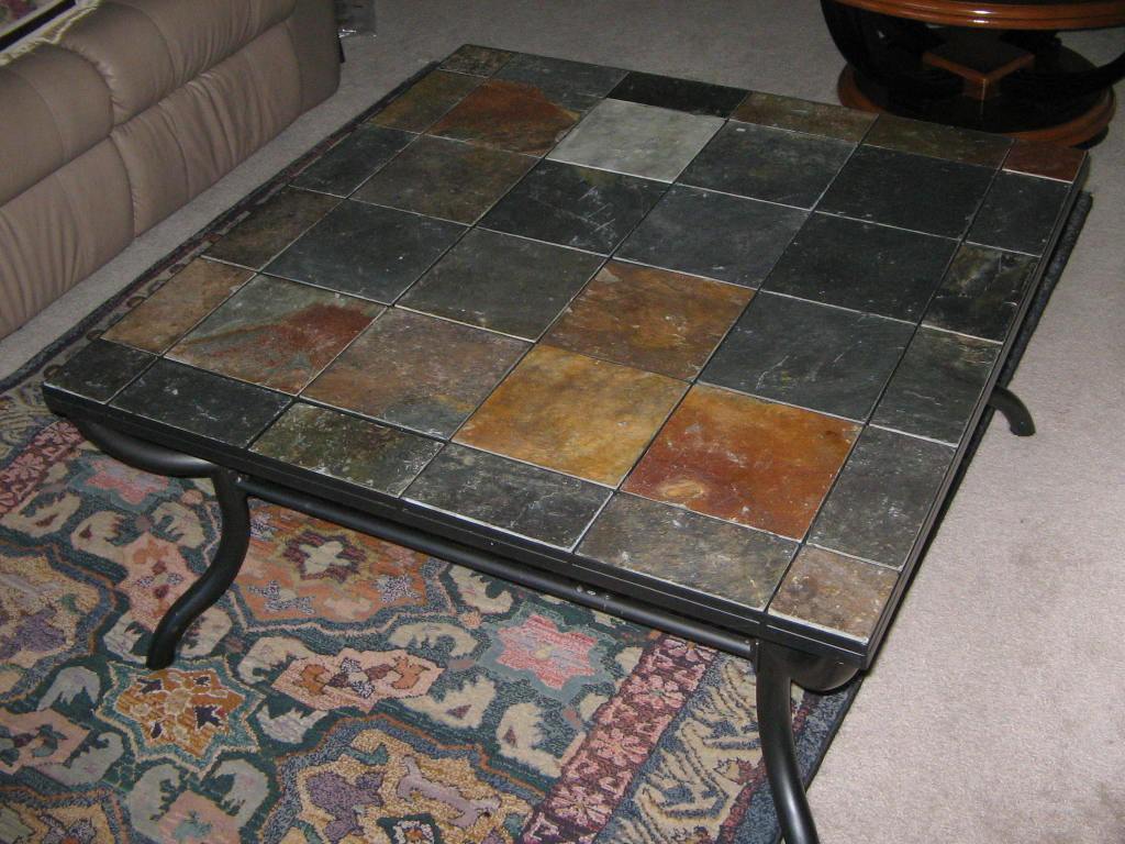 Picture of: Slate Top Coffee Table Tile
