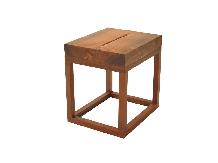 Picture of: Small Reclaimed Wood Side Table