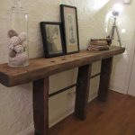 Small Reclaimed Wood And Sofa Table