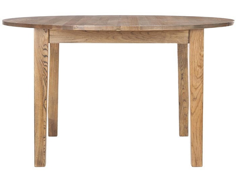 Image of: Small Rustic Round Dining Table