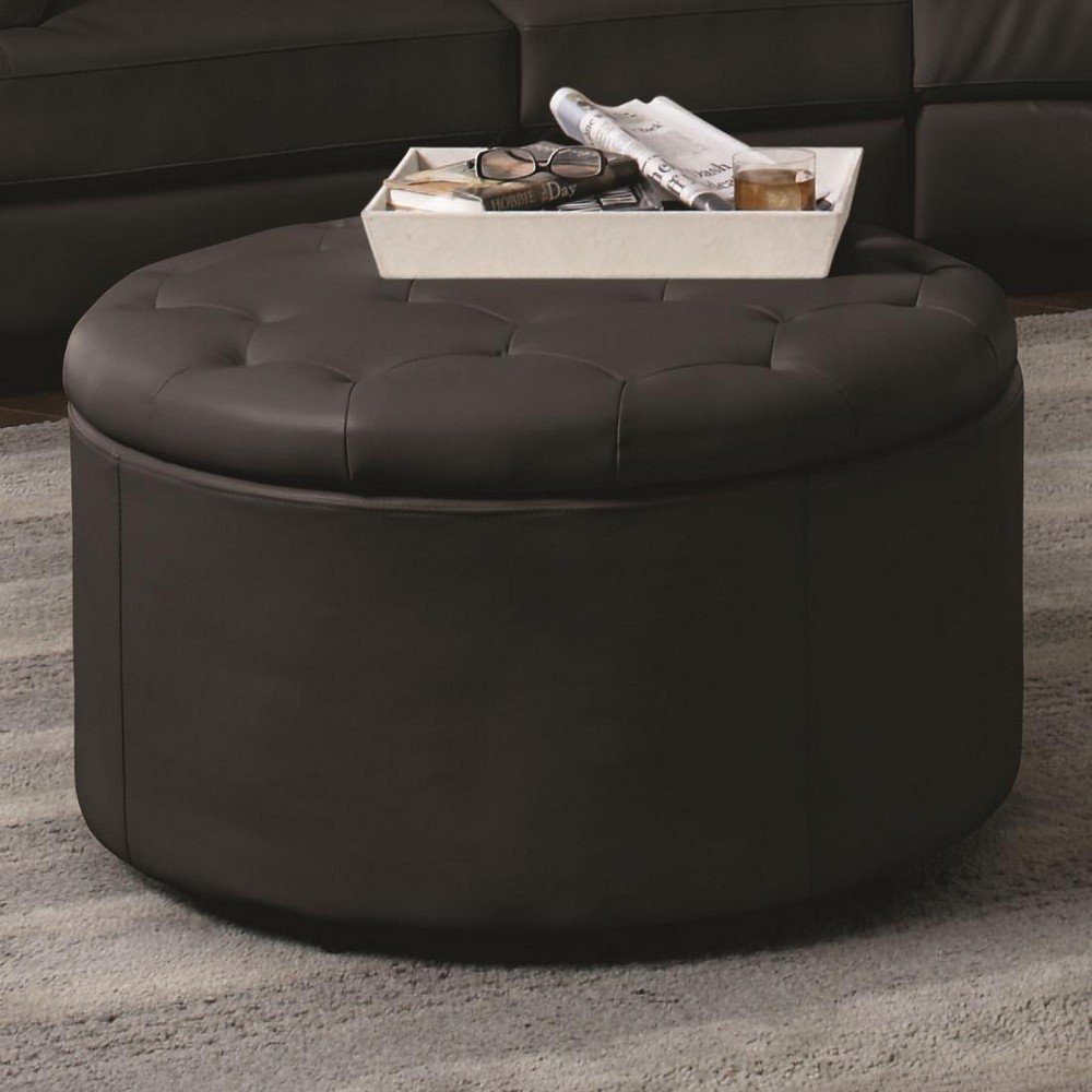 Picture of: Small Tufted Ottoman Coffee Table