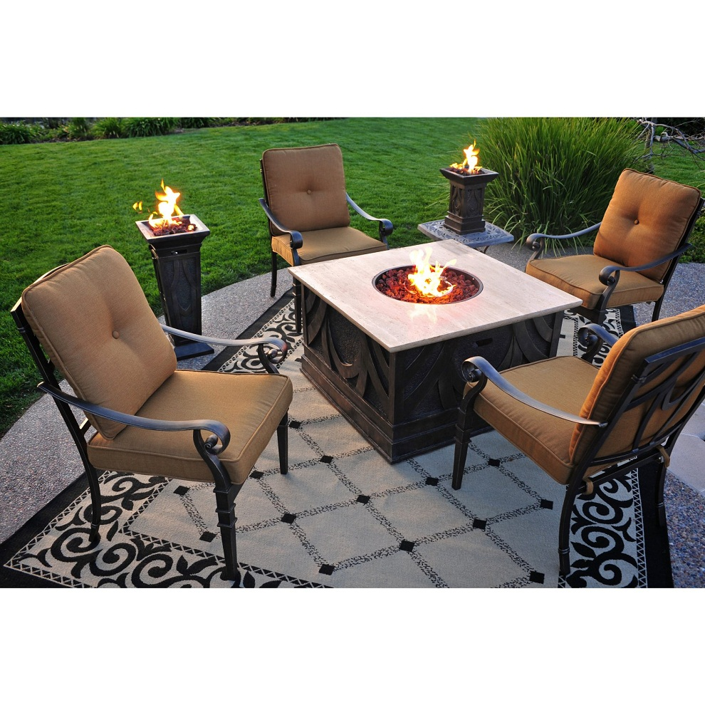 Image of: Small Wood Burning Fire Pit Table