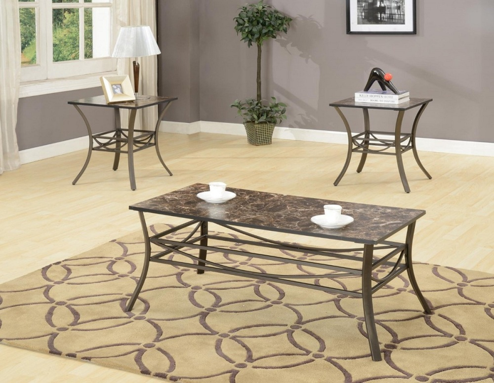 Image of: Small Wrought Iron Coffee Table