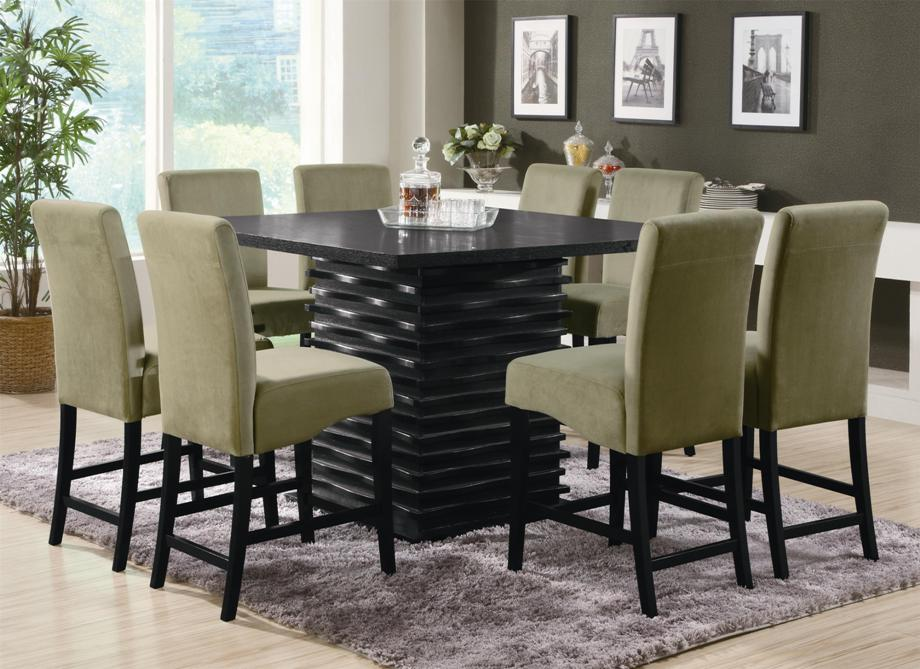 Image of: Small round pub table and chairs