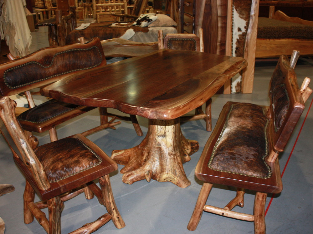 Image of: solid wood tables and chairs set
