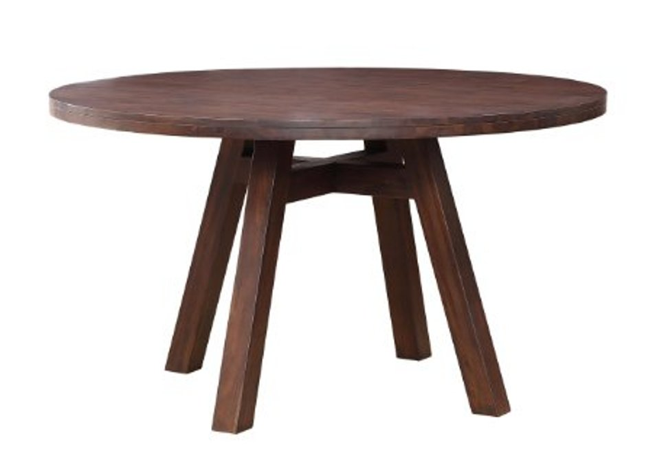Image of: Solid wood round dining table for 4