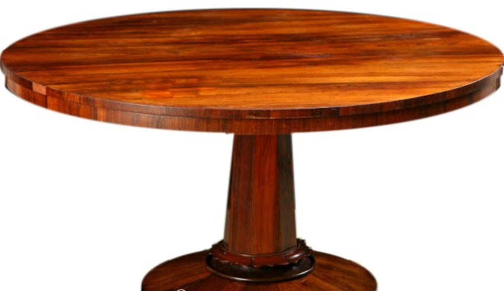 Image of: Solid wood round dining table