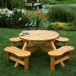 Somerset Round Wooden Picnic Table