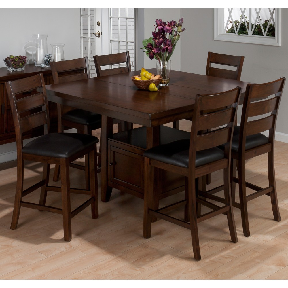 Image of: Square Dark Cherry Wood Dining Table