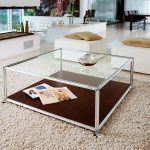 Square Glass Coffee Table Decorating